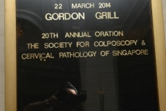 20th Annual Oration and 19th Annual Colposcopy Course 22 - 23 March 2014